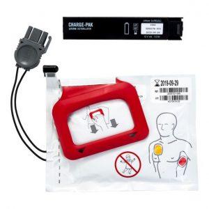 Batteri och 1 Par Elektroder till Lifepak CR Plus