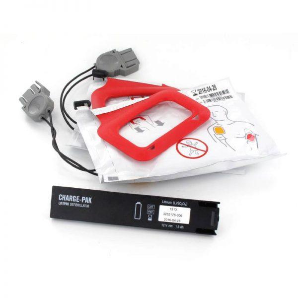 Batteri och 2 Par Elektroder till Lifepak CR Plus