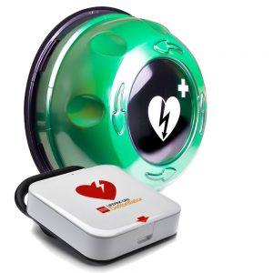 Hjärtstartare LIFEPAK CR2 med utomhusskåp ROTAID