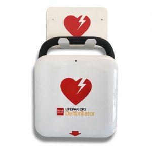 Hjärtstartare Lifepak CR2 med väggfäste Väggkrok