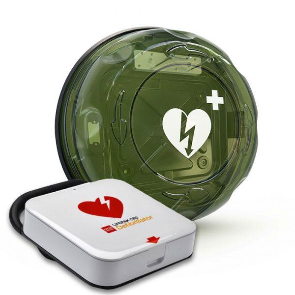 Hjärtstartare LIFEPAK CR2 wifi och skåp ROTAID PLUS