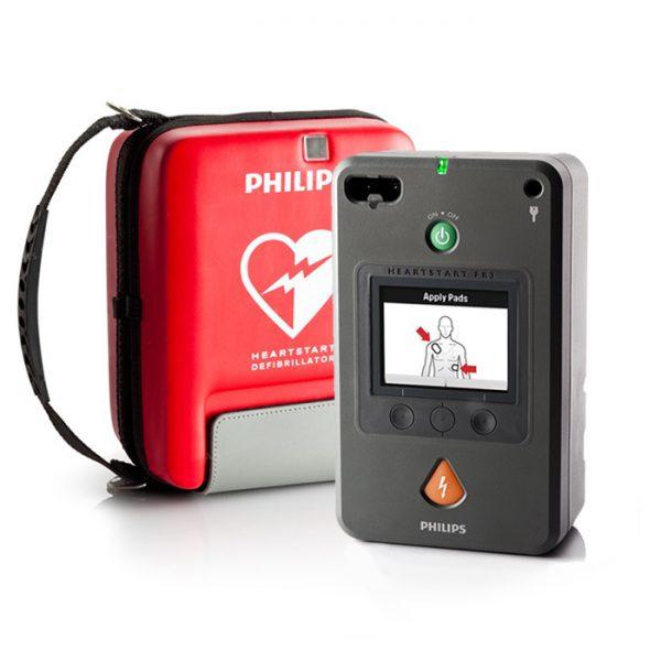 Hjärtstartare Philips Heartstart FR3 med väska