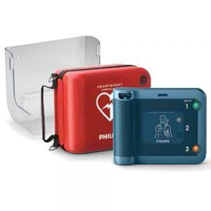 Hjärtstartare Philips Heartstart FRX, väska och väggfäste