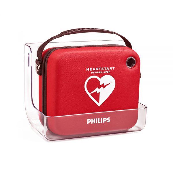 Hjärtstartare PHILIPS Heartstart HS1, väska och väggfäste
