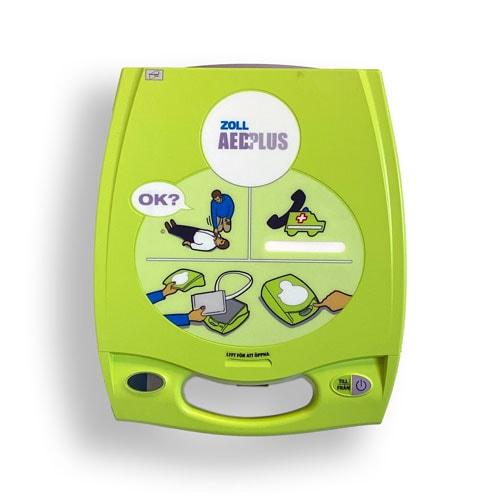Hjärtstartare Zoll AED Plus med väggfäste